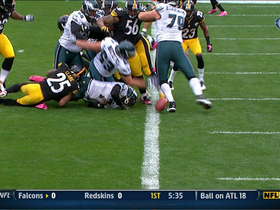 Video - Pittsburgh Steelers linebacker Larry Foote fumble recovery.