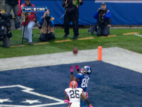 Video - New York Giants wide receiver Victor Cruz gets the hat trick