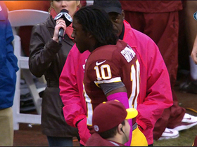 Video - RG3 heads to locker room after big hit