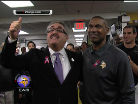 Video - Minnesota Vikings cheer in locker room