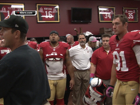 Video - San Francisco 49ers locker room excitement