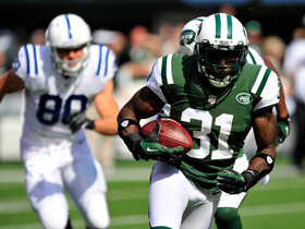 Video - New York Jets cornerback Antonio Cromartie intercepts Luck