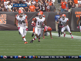 Video - Cleveland Browns wide receiver Josh Cribbs 60-yard punt return