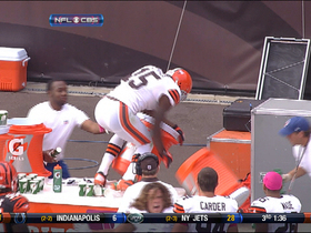 Video - Cleveland Browns wide receiver Greg Little loves his Gatorade
