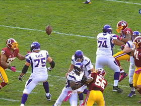 Video - Redskins recover Ponder fumble