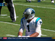 Watch: Newton throws pick in red zone