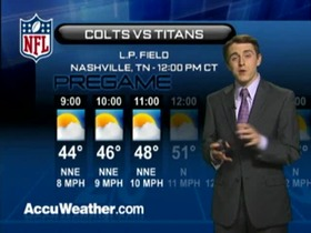 Video - Weather update: Colts  @ Titans
