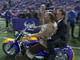 Watch: Mooch's motorcycle entrance