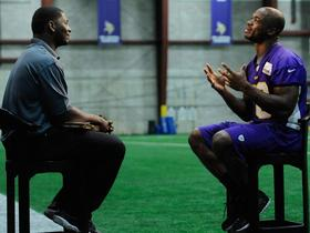 Video - Minnesota Vikings running back Adrian Peterson sits down with LaDainian Tomlinson