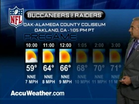Video - Weather update: Buccaneers  @ Raiders