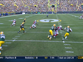 Video - Green Bay Packers quarterback quarterback Aaron Rodgers 25-yard run