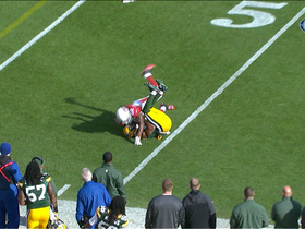 Video - Green Bay Packers quarterback Aaron Rodgers is intercepted by Cardinals DB William Gay