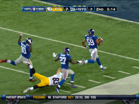 Video - New York Giants linebacker Michael Boley TD recovery off Ben Roethlisberger fumble