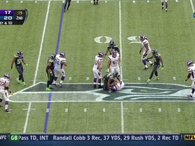 Seahawks defense, sack, 3-yd loss