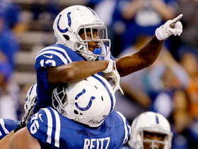 Watch: QB Luck to WR Hilton, 36-yd, pass, TD