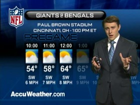 Video - Weather update: Giants  @ Bengals