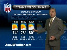Video - Weather update: Titans  @ Dolphins