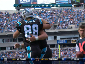 Video - Panthers QB Cam Newton finds TE Greg Olsen for a 4-yard TD catch