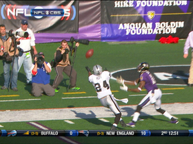 Video - Oakland Raiders cornerback Michael Huff intercepts Joe Flacco