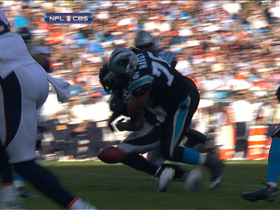 Video - Panthers force Broncos RB Willis McGahee fumble