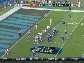 QB Newton to TE Olsen, 5-yd, pass, TD