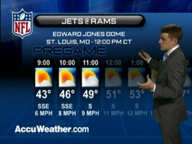 Video - Weather update: Jets  @ Rams