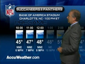 Video - Weather update: Buccaneers  @ Panthers