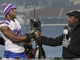 Video - Buffalo Bills RB C.J. Spiller steps on the set after win