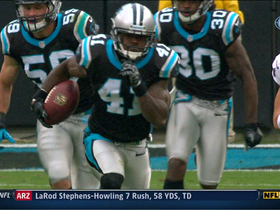 Video - Carolina Panthers CB Captain Munnerlyn pick six