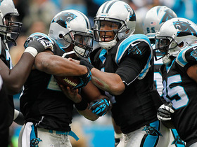 Video - Cam Newton, Panthers fan celebrate Stewart's TD run