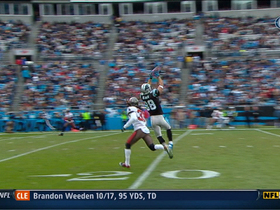 Video - Panthers QB Cam Newton finds TE Greg Olsen for a 32-yard completion