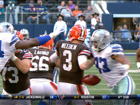Video - Dallas Cowboys recover Brandon Weeden's fumble