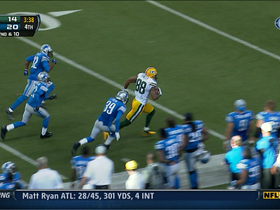 Video - Green Bay Packers TE Jermichael Finley 40-yard catch