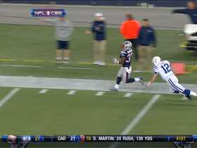 Video - New England Patriots cornerback Alfonzo Dennard picks off Luck for 87-yd TD