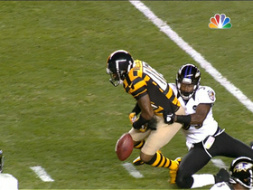 Video - Ravens CB Chris Johnson forces Mike Wallace to fumble