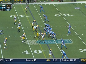 QB Stafford to WR Broyles, 27-yd, pass
