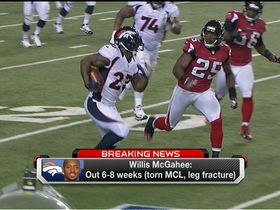 Video - Denver Broncos RB Willis McGahee tears MCL, out 6 to 8 weeks