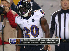 Video - Ravens' Ed Reed suspended one game for violations of safety rules