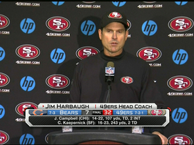 Video - San Francisco 49ers head coach Jim Harbaugh will go with hot hand at QB