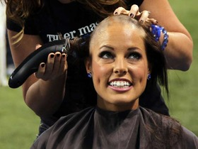 Video - Indianapolis Colts cheerleaders shave heads in honor of Pagano