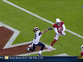 Video - Arizona Cardinals cornerback Patrick Peterson intercepts Bradford