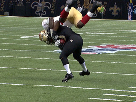Video - New Orleans Saints running back Darren Sproles flips San Francisco 49ers linebacker Aldon Smith