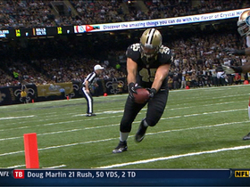 Video - New Orleans Saints quarterback Drew Brees throws third TD of the day