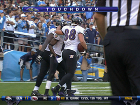 Video - Ravens tight end Dennis Pitta 4-yard TD grab