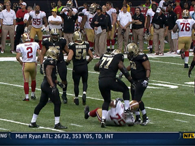 Video - New Orleans Saints defensive tackle Brodrick Bunkley ejection