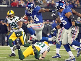Video - New York Giants RB Ahmad Bradshaw 13-yard TD run