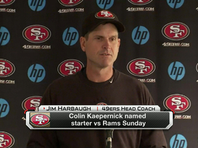 Video - San Francisco 49ers QB Colin Kaepernick named starter