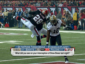 Video - Thomas DeCoud, Atlanta Falcons 'rise up' to knock off Saints