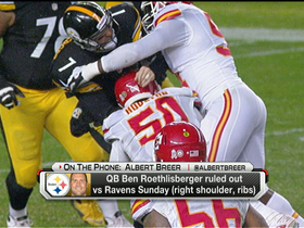Video - Steelers' Roethlisberger ruled out for Sunday vs. Ravens