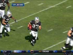 Video - Oakland Raiders safety Matt Giordano picks off Weeden